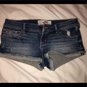 Hollister Blue Jean Shorts Size 5 W27